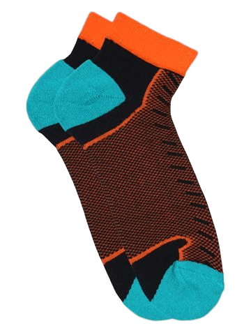 Quick Dry Jock Socks - Black & Orange