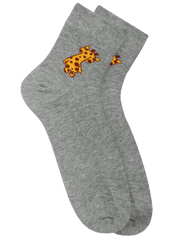 Giraffe in the Zoo Socks