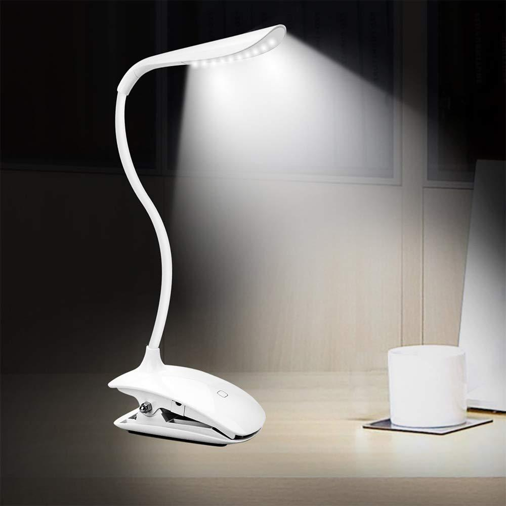 LED Lamp with table clamp - rechargable, dimming - perfect for Sewing