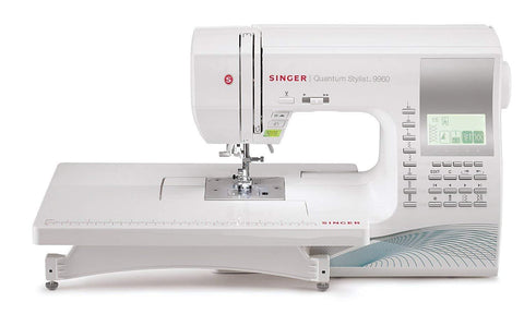 Singer Quantum Stylist 9960 - 600 Stitch Patterns with Extension Table, Hard Cover, Walking Foot