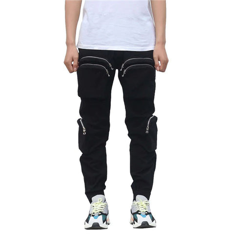 CARGO PANTS WITH POCKETS BLACK