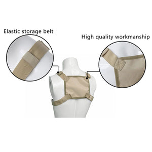 Waist bag with front pocket Beige