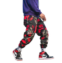 Load image into Gallery viewer, Camo pants Red