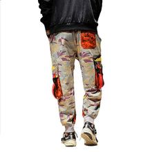 Load image into Gallery viewer, Camo color block pants