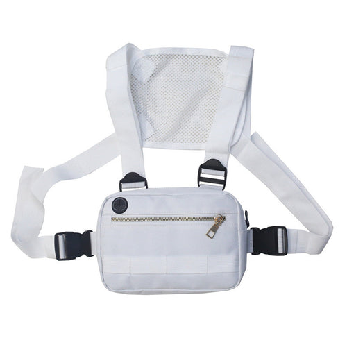 Waist bag with front pocket White