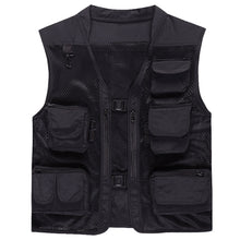 Load image into Gallery viewer, Vest with pockets Black