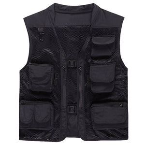 Vest with pockets Black