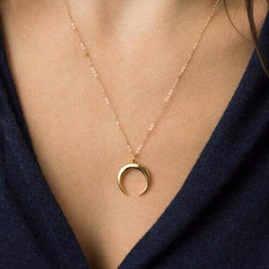 Regal Crescent Moon Necklace