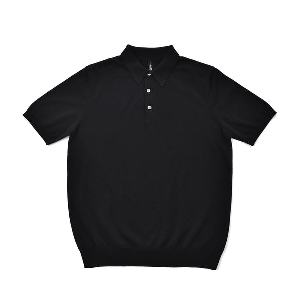 terroir:Knit Polo Black