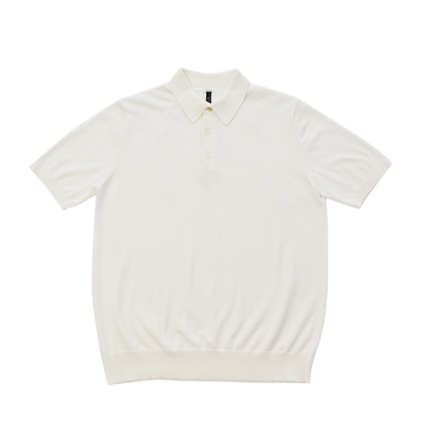terroir:Knit Polo White