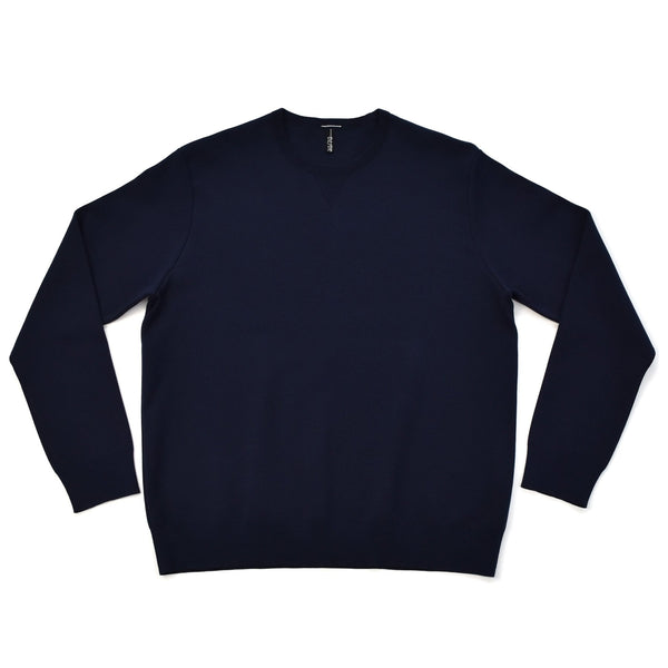 arteco:Smooth Crewneck Pullover Navy