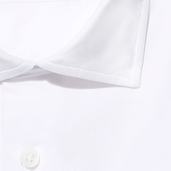【干場リクエスト】<br> Knit Dress Shirts<br> GINO<br> SUVIN PLATINUM Plain stitches<br> White