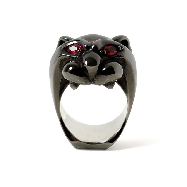 【受注終了しました】<br>PRE ORDER<br>Black Panther Ring<br>Ruby Black Rhodium