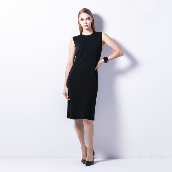 lusso:WOMEN'S KNIT DRESS_18G SMOOTH