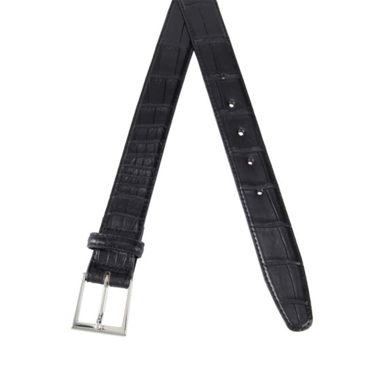 Crocodile belt<br>Black