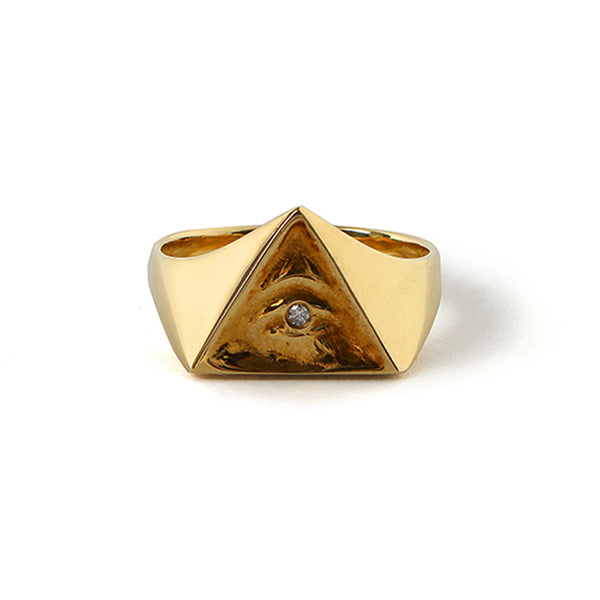 ILLUMINATI EYES RING<br>18K GOLD /  WHITE DIAMOND