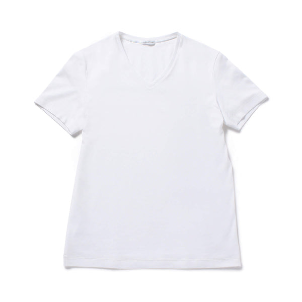 【MMW限定 干場企画】<br>SUVIN PLATINUM V NECK T-SHIRTS White