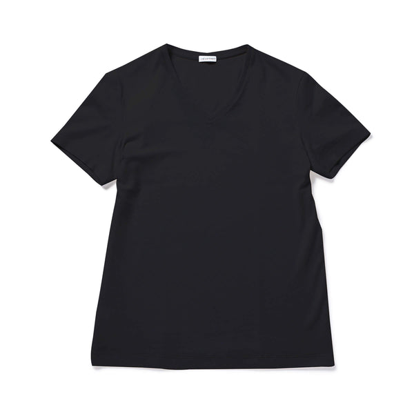【MMW限定 干場企画】<br>SUVIN PLATINUM V NECK T-SHIRTS Black