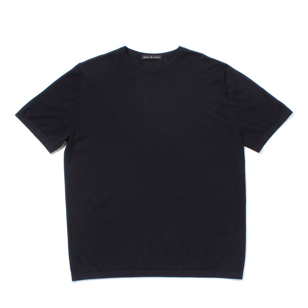 Ultra Light Cashmere Crewneck T-shirts <br>Black