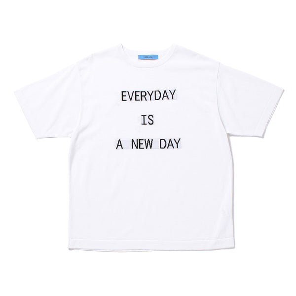 """EVERYDAY"" Lettered T-Shirt White"
