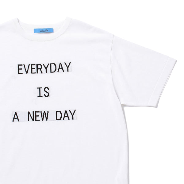 "PRE ORDER<br>""EVERYDAY"" Lettered T-Shirt White"