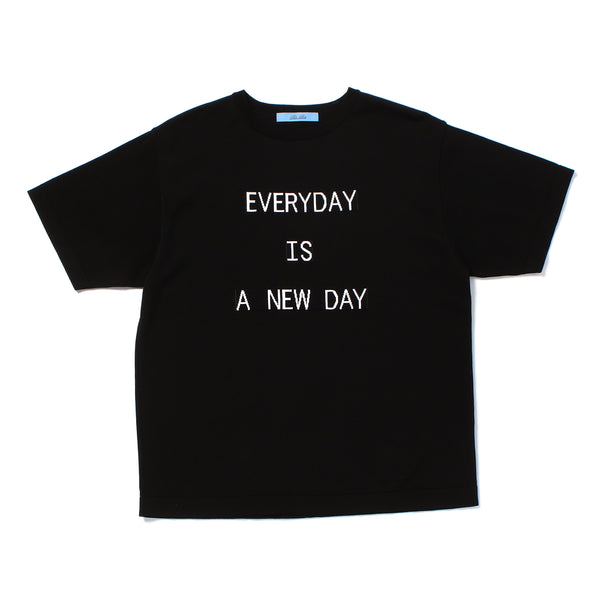"""EVERYDAY"" Lettered T-Shirt Black"