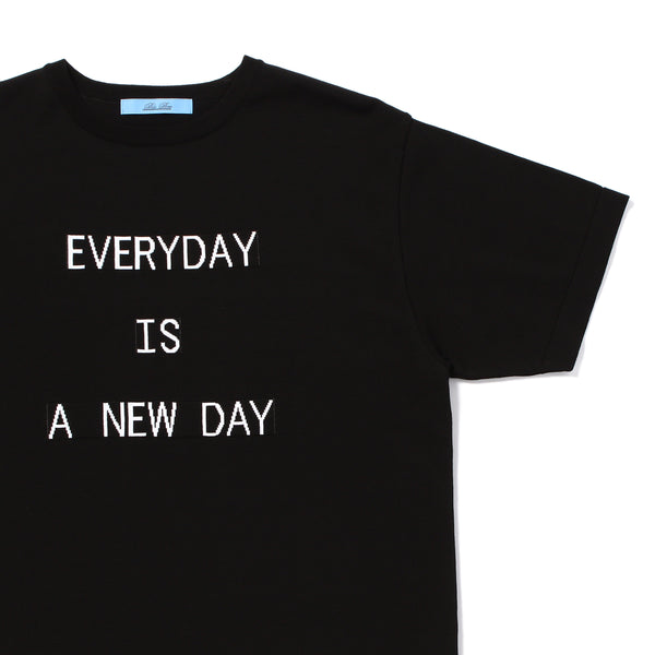 "PRE ORDER<br>""EVERYDAY"" Lettered T-Shirt Black"