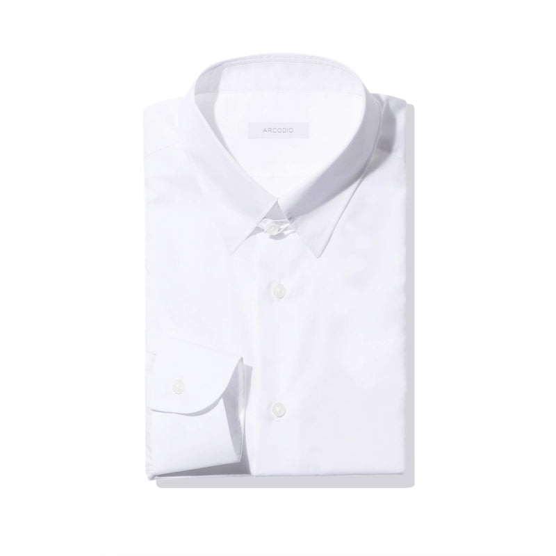 【干場リクエスト】<br> Dress Shirts<br>FAUSTO (Tab collar)<br> 140s 2-ply Broadcloth<br>Wrinkle-Resistant