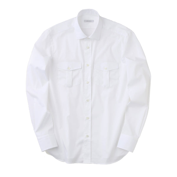 MMW限定<br>Pilot Shirts 3Functions Broadcloth Long Sleeve<br>White