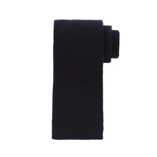 Whole Garment Knit Tie<br>100% Cashmere<br>Navy