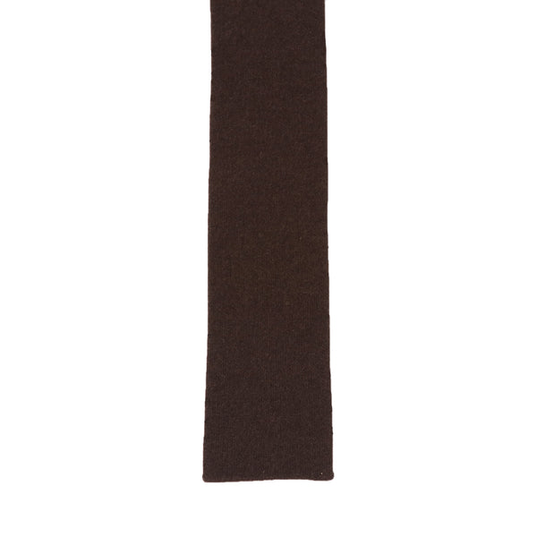 Whole Garment Knit Tie<br>100% Cashmere<br>Brown