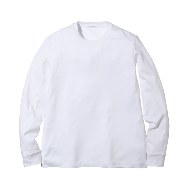 SUVIN PLATINUM LONG SLEEVE T-SHIRTS<br>Color: White