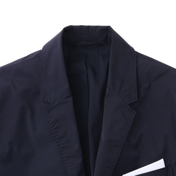 【干場愛用セットアップジャケット】<br>Matte Nylon Stretch<br>Notched Lapel Jacket<br>Dark Navy