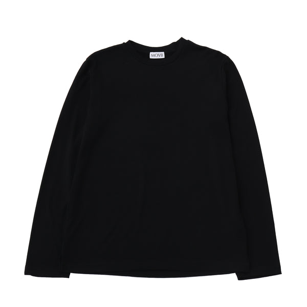 Crew neck T-shirt<br>Col.Black