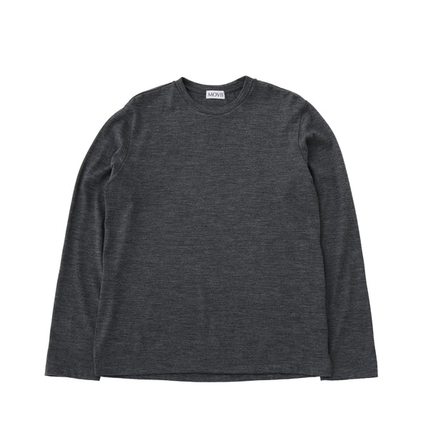 Crew neck T-shirt<br>Col.Gray