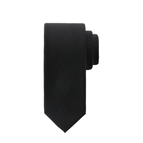 【MMW限定 干場企画】<br>Loro Piana Super150's Wool Tie 5.5cm<br>Color:Black