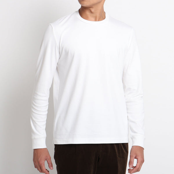 Suvin Platinum Long Sleeve T-Shirt<br>Color: White