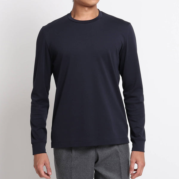 Suvin Platinum Long Sleeve T-Shirt<br>Color: Navy