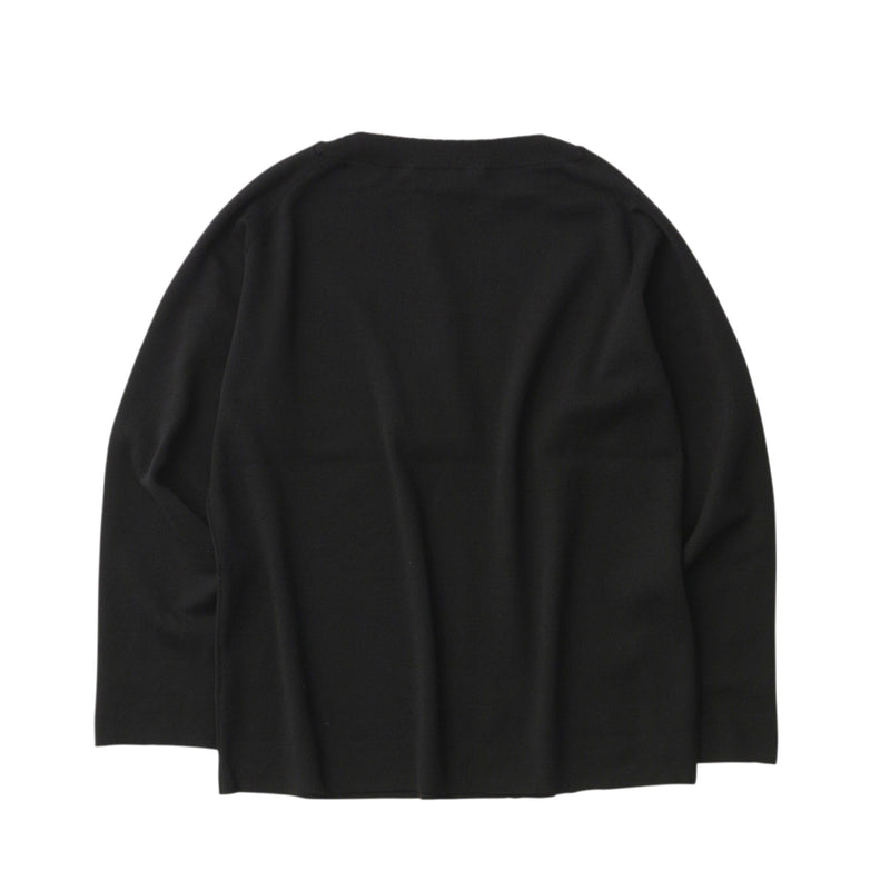 Crew neck knit<br>Black