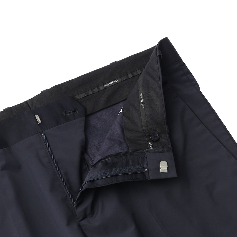 【干場愛用セットアップトラウザーズ】<br>Matte Nylon Stretch<br>Rib Cuff Trousers<br>Dark Navy
