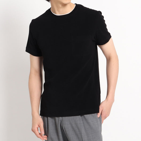 Suvin Platinum Micro Pile Pocket T-shirts<br>Color: Black