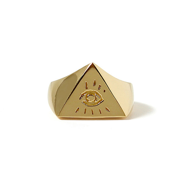 ILLUMINATI EYES RING<br>22K GOLD