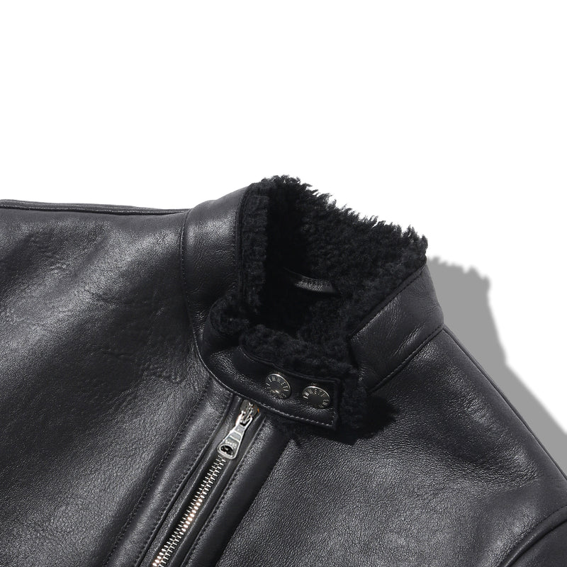 MMW 限定<br>PRE ORDER<br>Mouton Leather<br>Single Rider's Jacket_Donna
