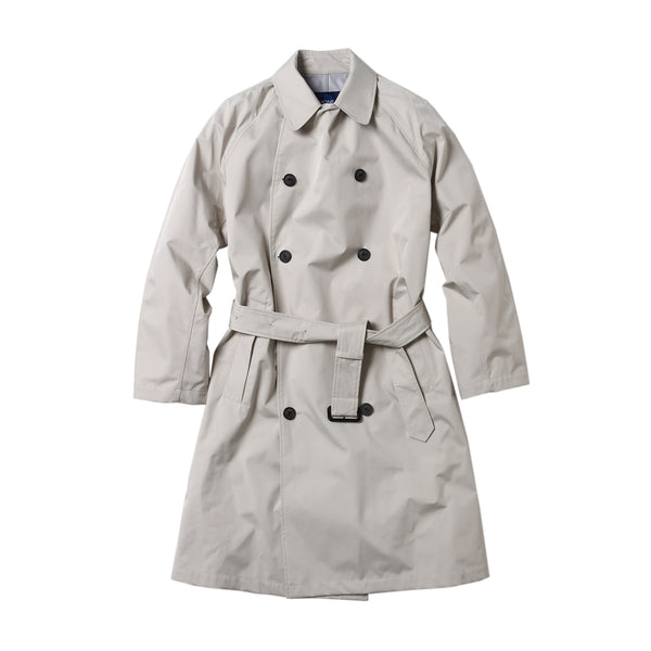 Breathable waterproof  Three-layered fablic Over trench coat Light gray