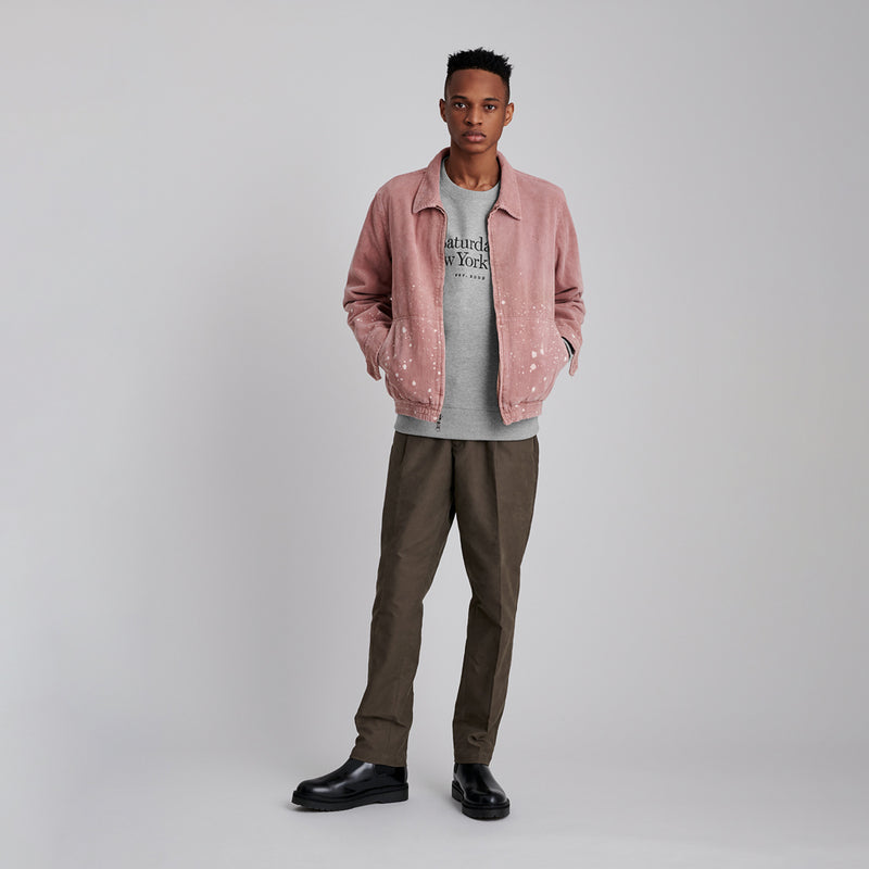Bowery Miller Standard Embroidered Crew<br>Ash Heather