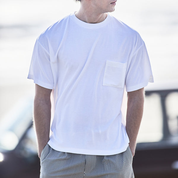 Suvin Platinum Micro Pile Big T-Shirt<br>Color: White