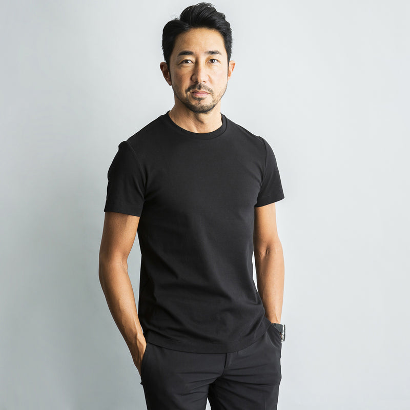 Suvin Platinum Regular T-Shirt<br>Color: Black