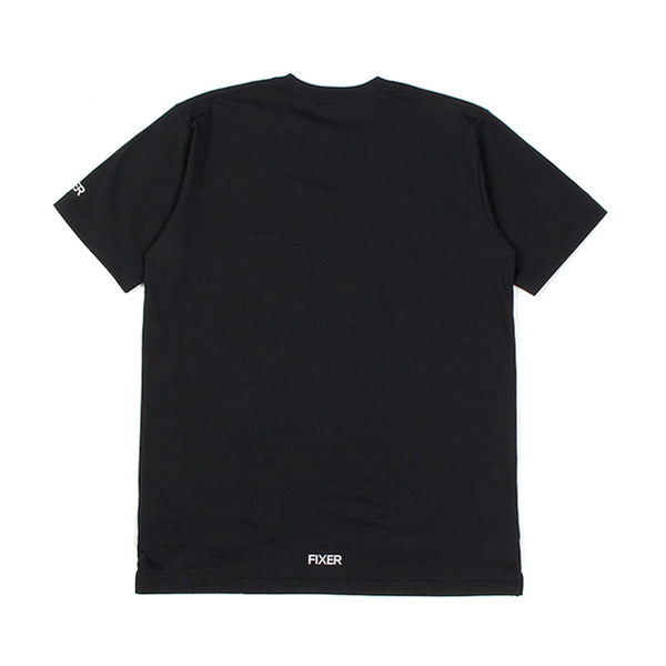 2 Print Crew Neck T-shirt Black