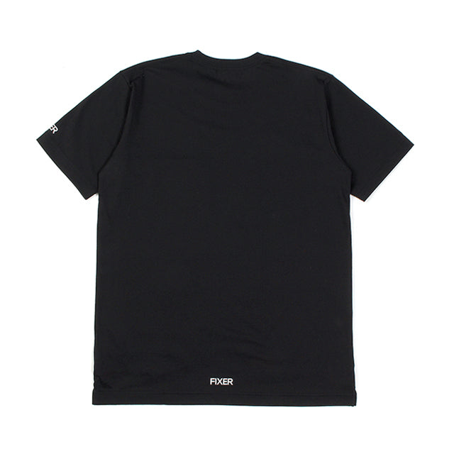 【受注終了しました】 <br>2 Print Crew Neck T-Shirt Black