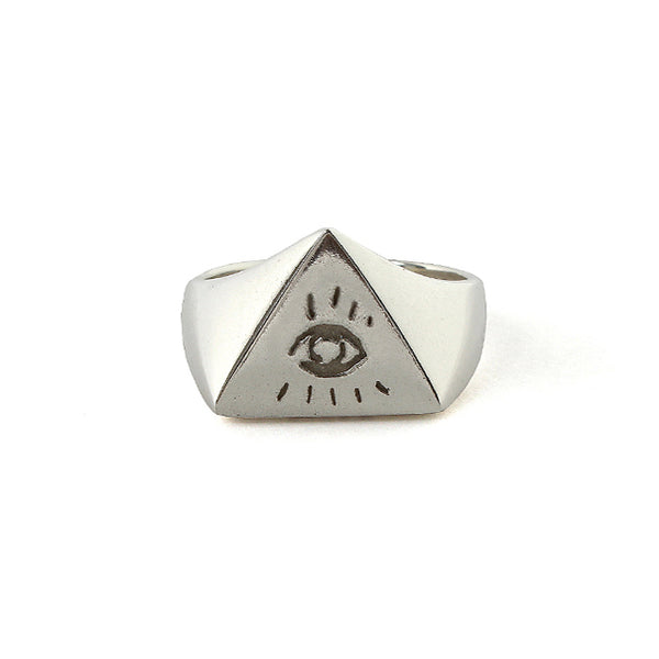 【受注終了しました】<br>PRE ORDER<br>Illuminati Eyes Ring<br>18K White Gold